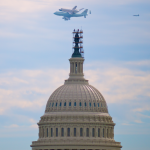 Space Shuttle Discovery over The Capitol
